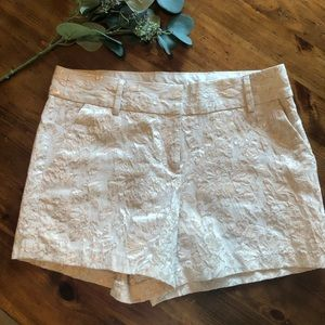 LC Lauren Conrad white and gold dress shorts